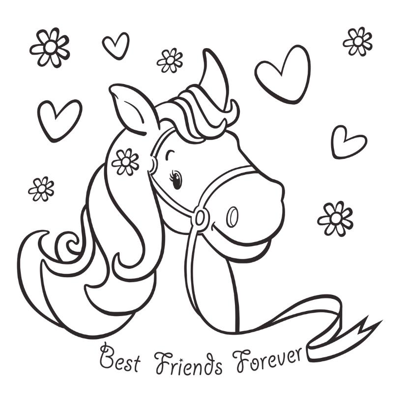 Kleurplaten Love Paarden.Een Kleurplaat Van Een Paard