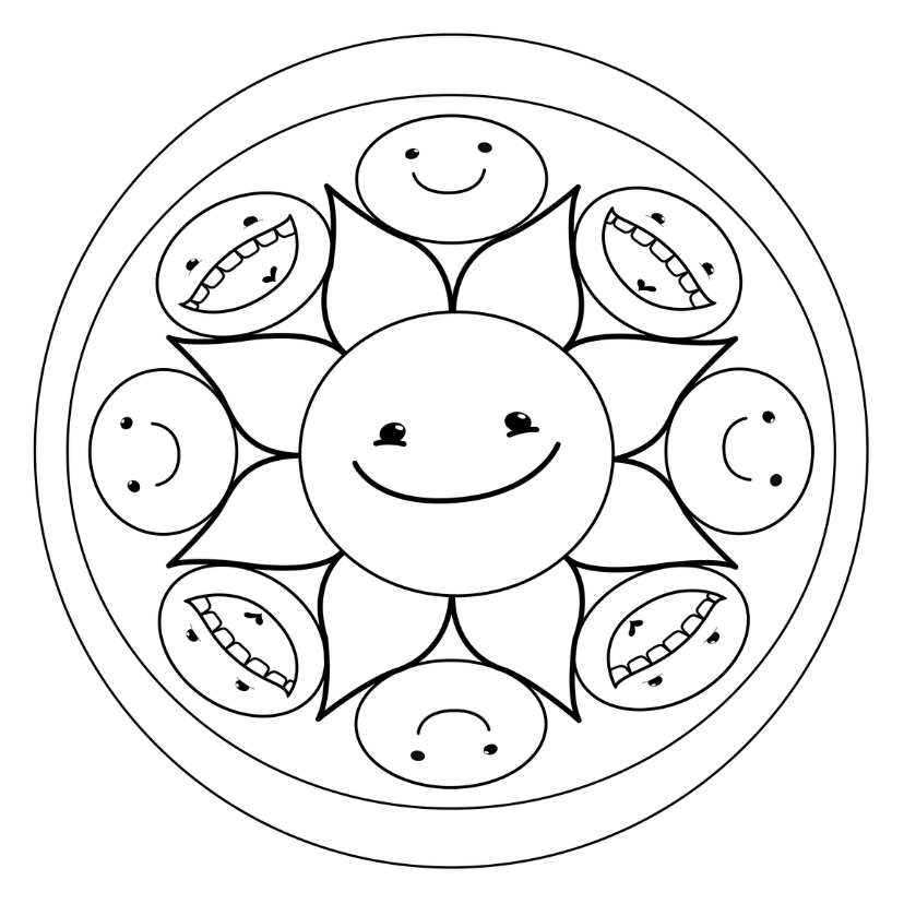 kleurplaten een smiley emoji en smiley kleurplaten