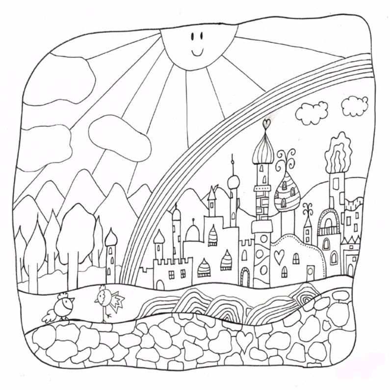 Kleurplaat kaarten - Sprookjes kleurplaat volwassenen