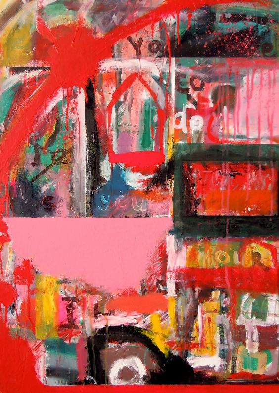 Kunstkaarten - Abstract kunstwerk Coming Home