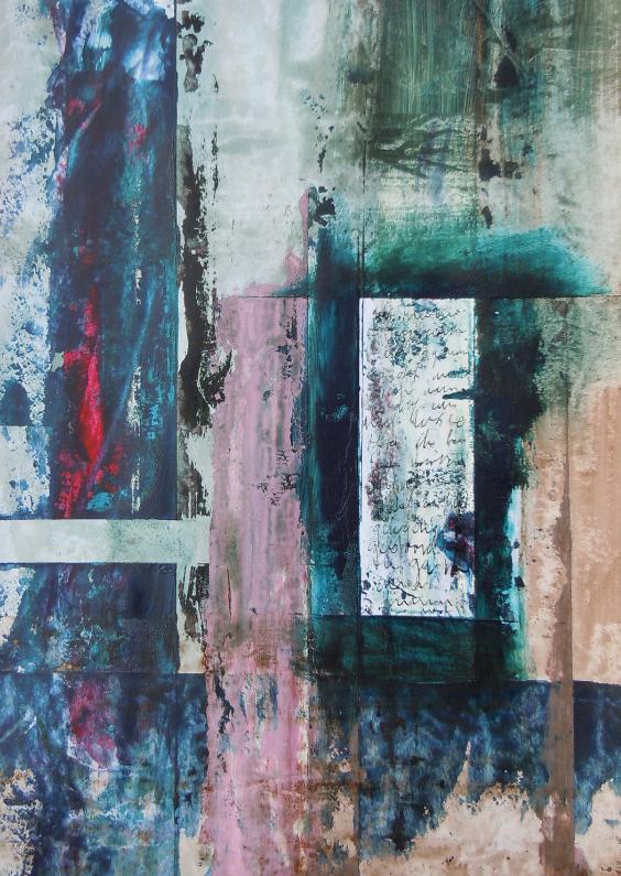 """Kunstkaarten - Abstract kunstwerk """"Geheimen"""""""