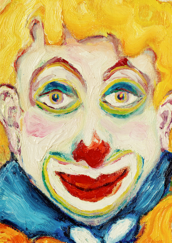 Kunstkaarten - Clown geel