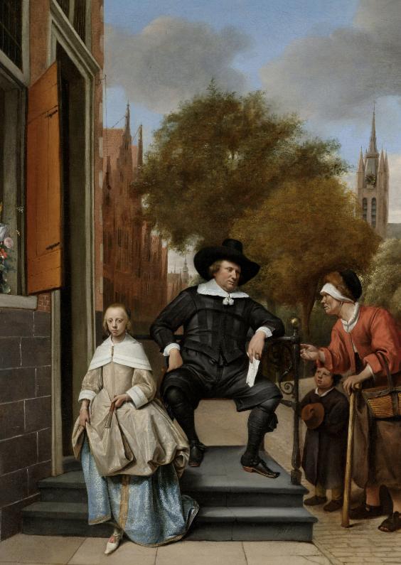 Kunstkaarten - De burgemeester van Delft