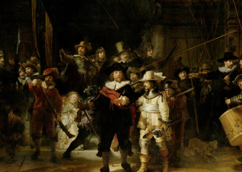 Kunstkaarten - De Nachtwacht Rembrandt van Rijn