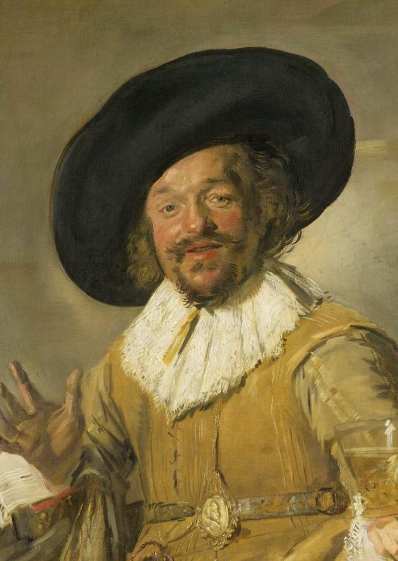 Kunstkaarten - De vrolijke drinker - Frans Hals
