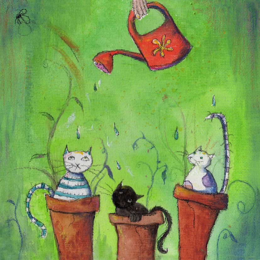 Kunstkaarten - Dierenkaart Growing cats