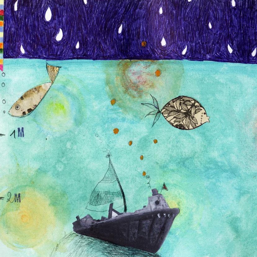 Kunstkaarten - Dierenkaart onder en boven water