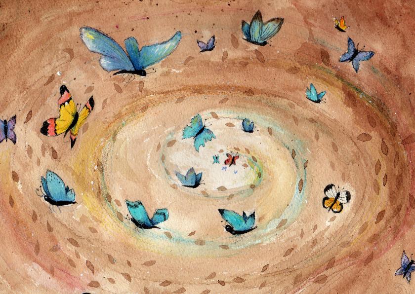 Kunstkaarten - Dierenkaart vlinders in je buik