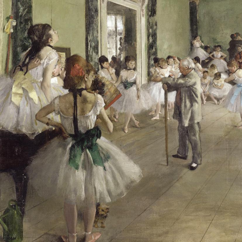Kunstkaarten - Edgar Degas. De balletklas
