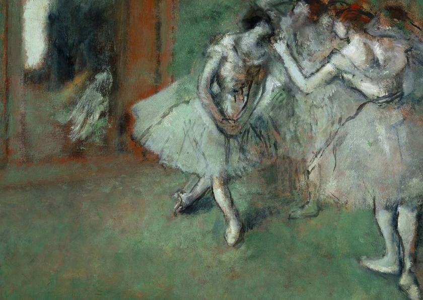 Kunstkaarten - Edgar Degas. Groep danseressen