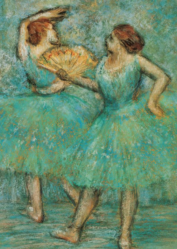 Kunstkaarten - Edgar Degas. Twee danseressen