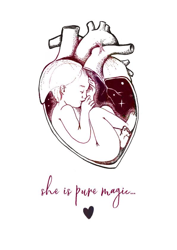 Kunstkaarten - Felicitatie Kunstkaart voor de geboorte van een meisje