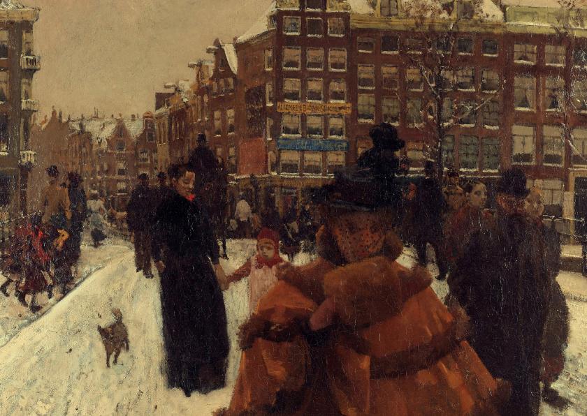 Kunstkaarten - George Breitner. Stadsgezicht in Amsterdam