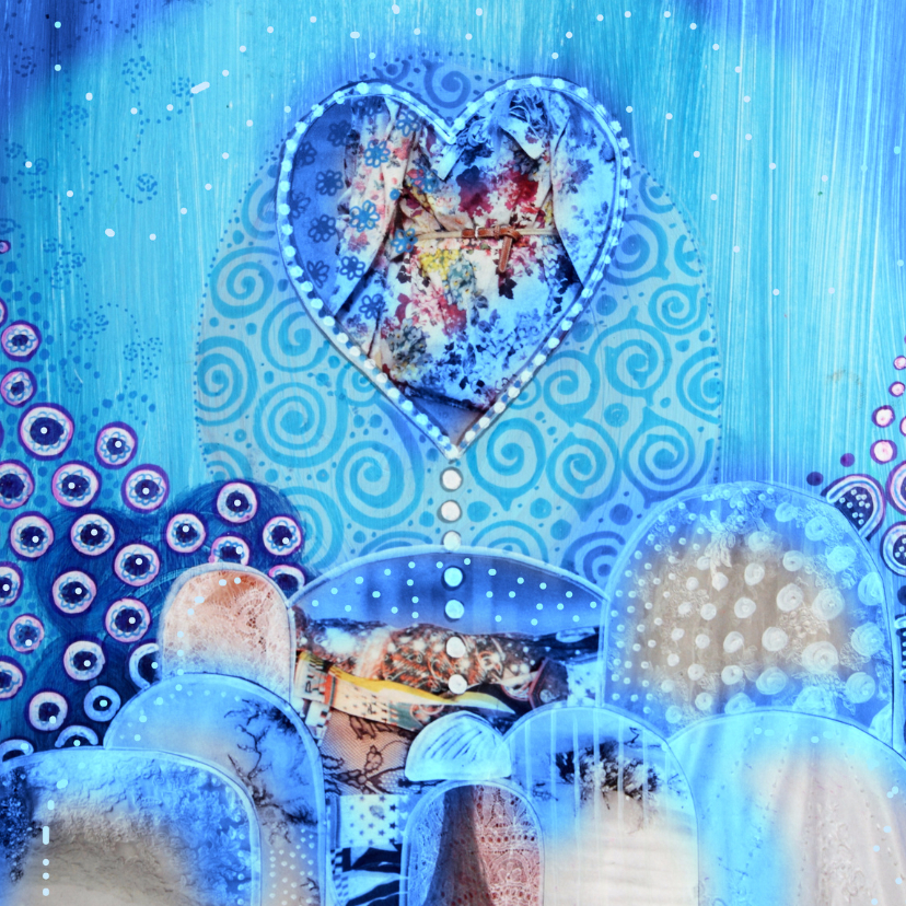Kunstkaarten - Happy blue