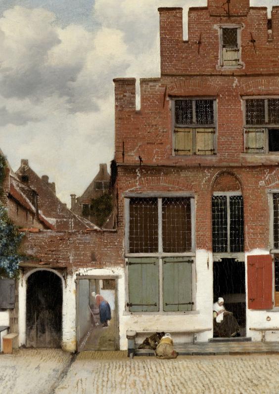 Kunstkaarten - Het straatje - Johannes Vermeer