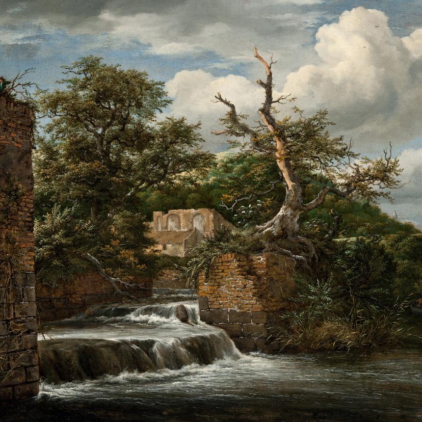 Kunstkaarten - Jacob van Ruisdael. Landschap met molen en ruïne