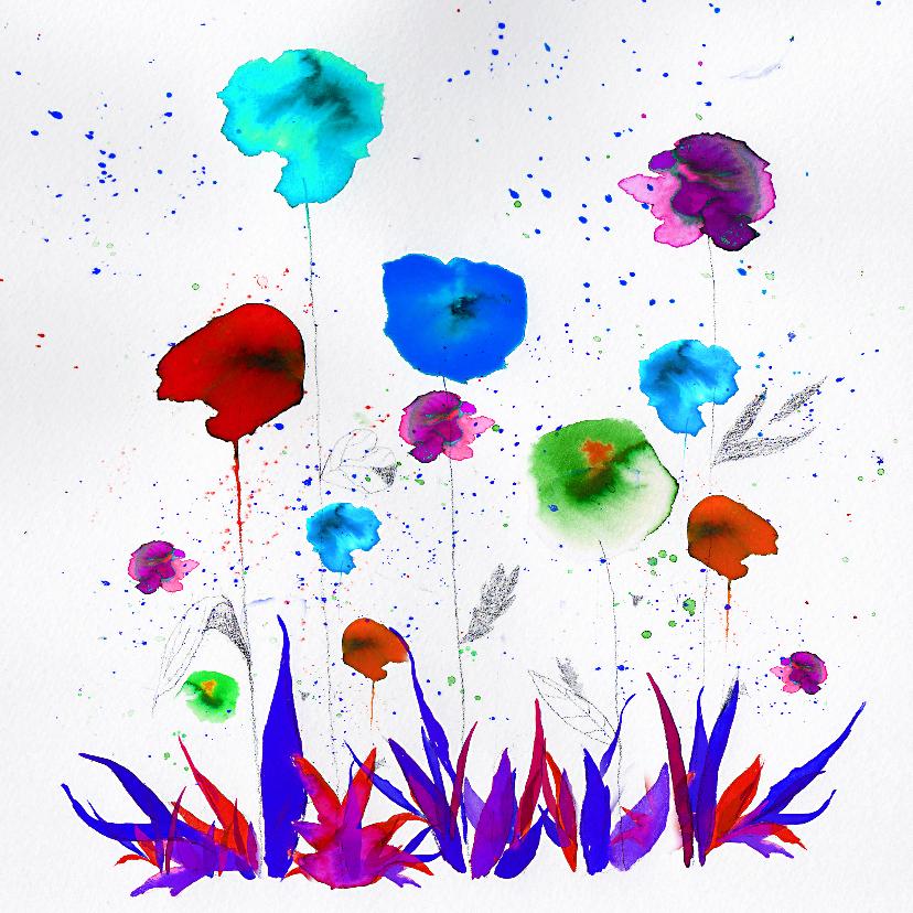 Kunstkaarten - Je verdient een bloemetje