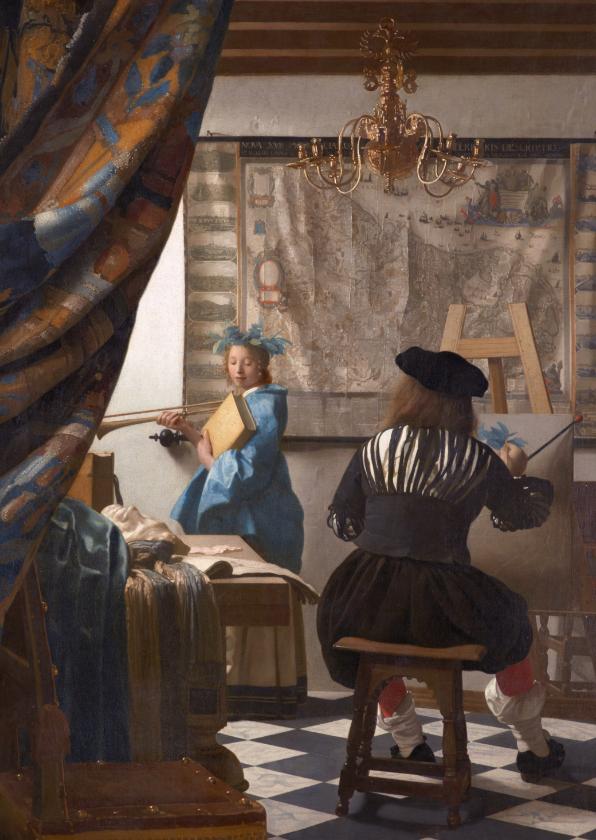 Kunstkaarten - Johannes Vermeer. De schilderkunst