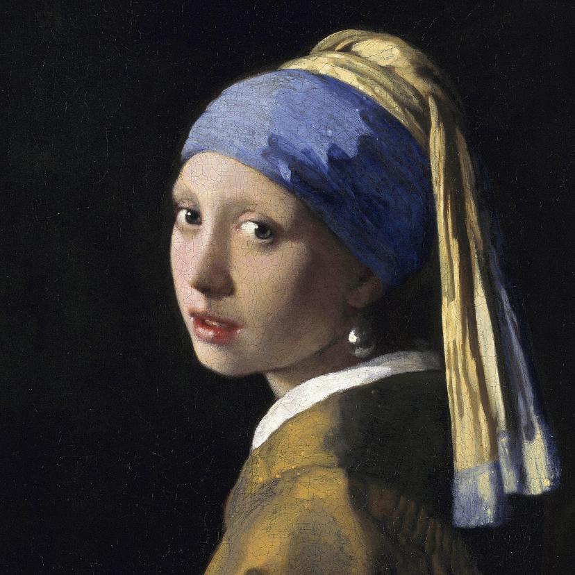 Kunstkaarten - Johannes Vermeer. Het meisje met de parel