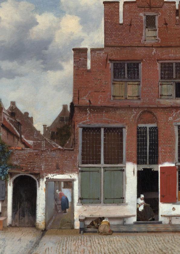 Kunstkaarten - Johannes Vermeer. Het straatje in Delft
