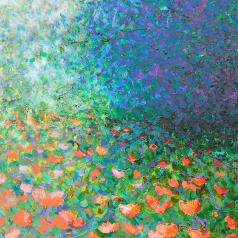 Kunstkaarten - Klaprozen en paarse bloesem