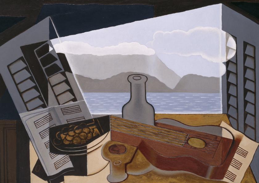 Kunstkaarten - Kunst Juan Gris. Het open venster