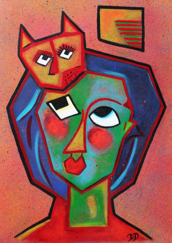 Kunstkaarten - Kunstkaart De Kater