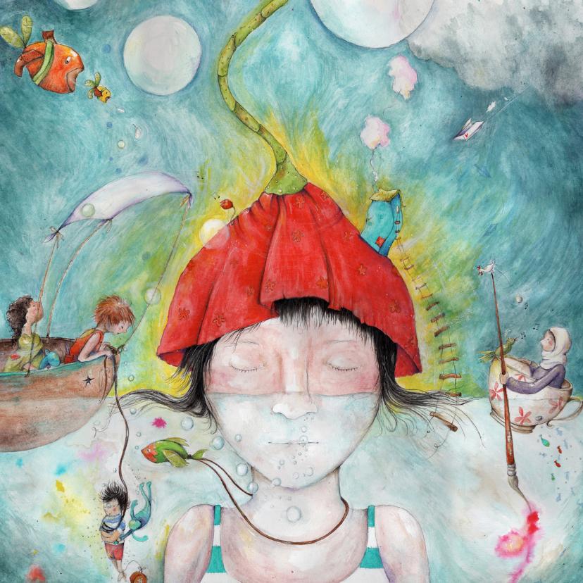 Kunstkaarten - Kunstkaart een drukke wereld