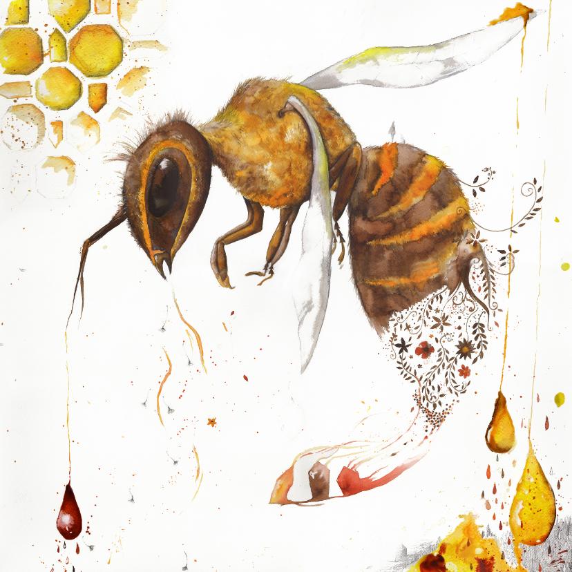 Kunstkaarten - Kunstkaart focus bijen