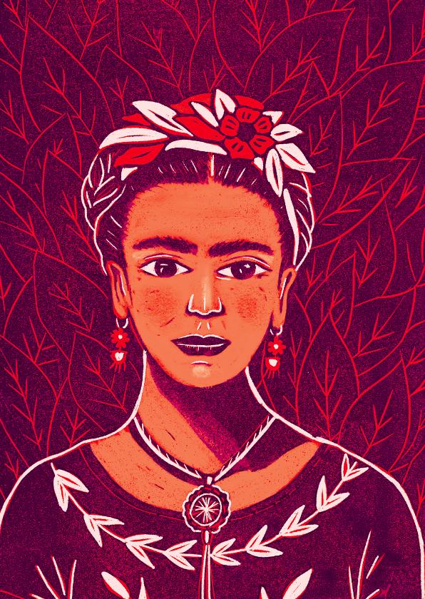 Kunstkaarten - Kunstkaart Frida Kahlo