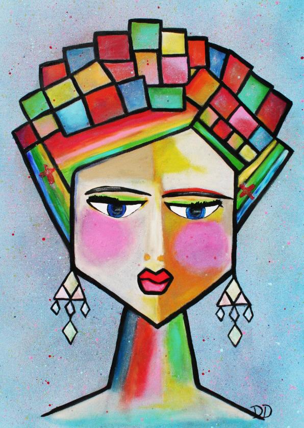 Kunstkaarten - Kunstkaart Frida