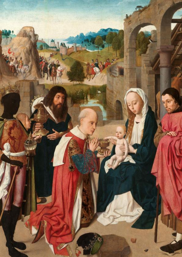 Kunstkaarten - Kunstkaart Geertgen tot Sint Jans. De aanbidding