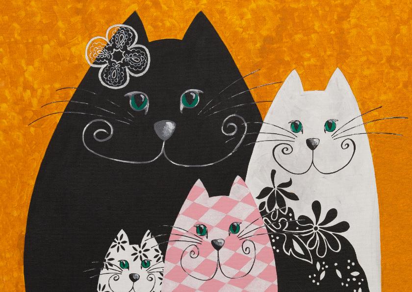 Kunstkaarten - Kunstkaart - Golden katten