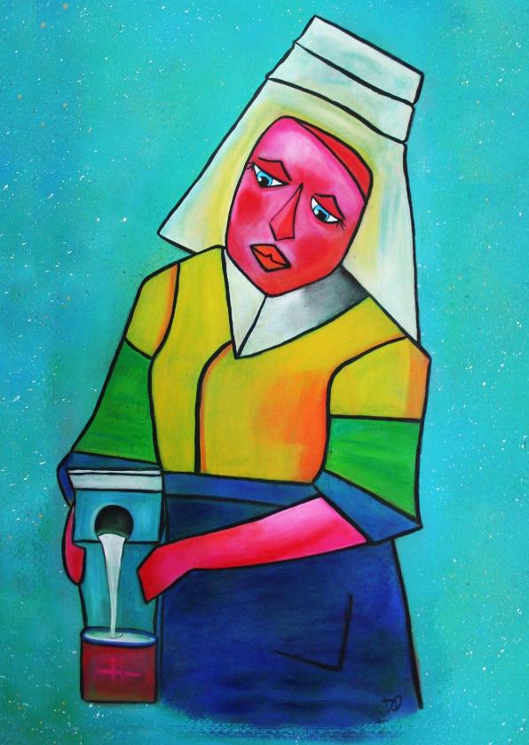 Kunstkaarten - Kunstkaart Het melkmeisje