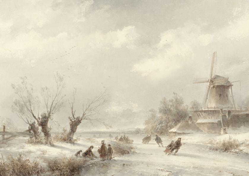 Kunstkaarten - Kunstkaart Lodewijk Johannes Kleijn. Winterlandschap