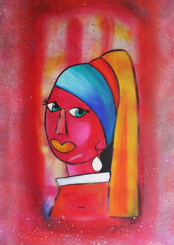 Kunstkaarten - Kunstkaart meisje met de parel