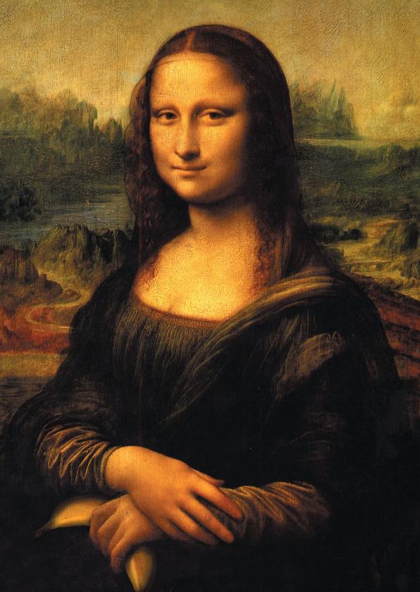 Kunstkaarten - Kunstkaart Mona Lisa met banaan