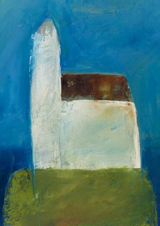 Kunstkaarten - Kunstkaart schilderij kerk