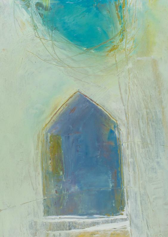 Kunstkaarten - Kunstkaart sfeervol water huis