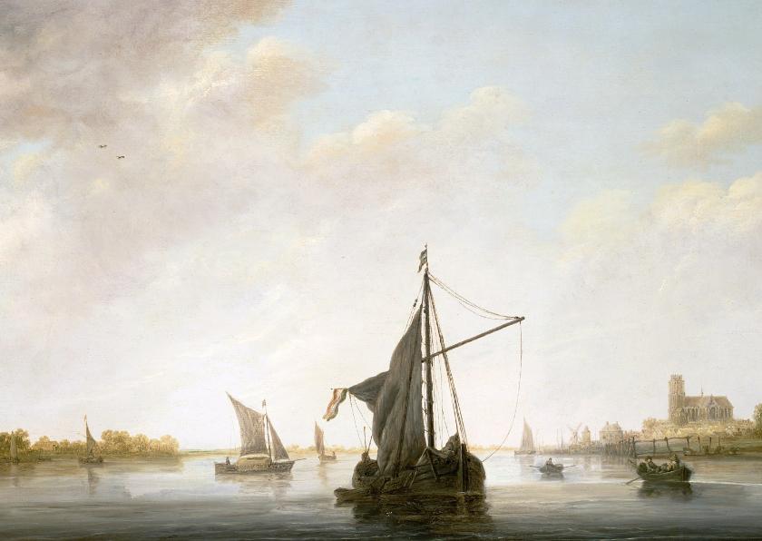 Kunstkaarten - Kunstkaart van Aelbert Cuyp. Gezicht op de Maas