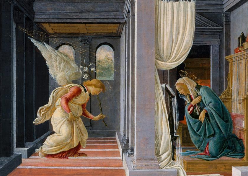 Kunstkaarten - Kunstkaart van de aankondiging aan Maria