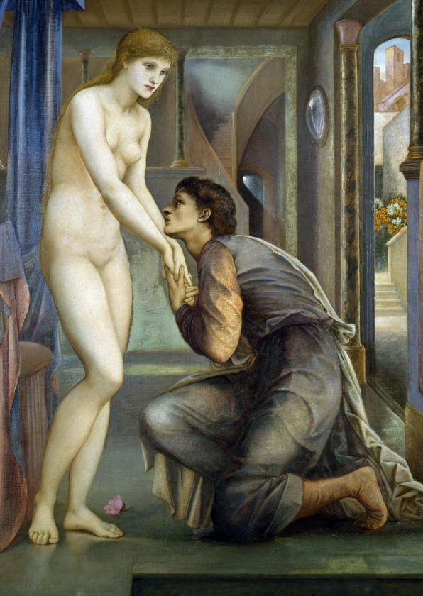 Kunstkaarten - Kunstkaart van Edward Burne-Jones . Pygmalion