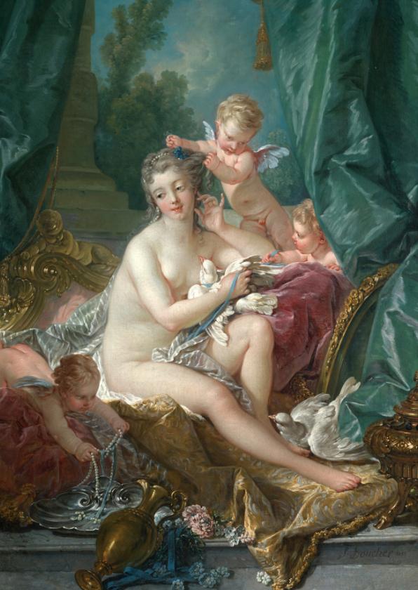 Kunstkaarten - Kunstkaart van Fracois Boucher. Venus
