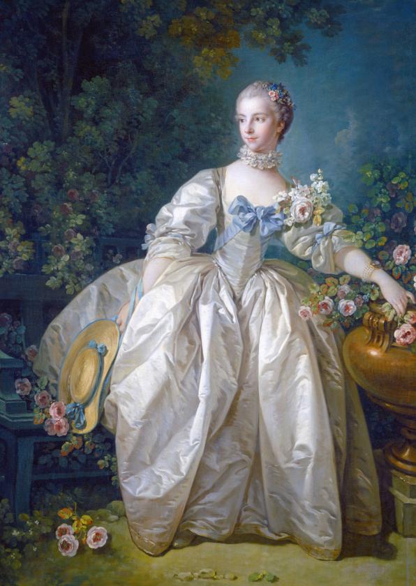 Kunstkaarten - Kunstkaart van francois Boucher. Madame Bergeret
