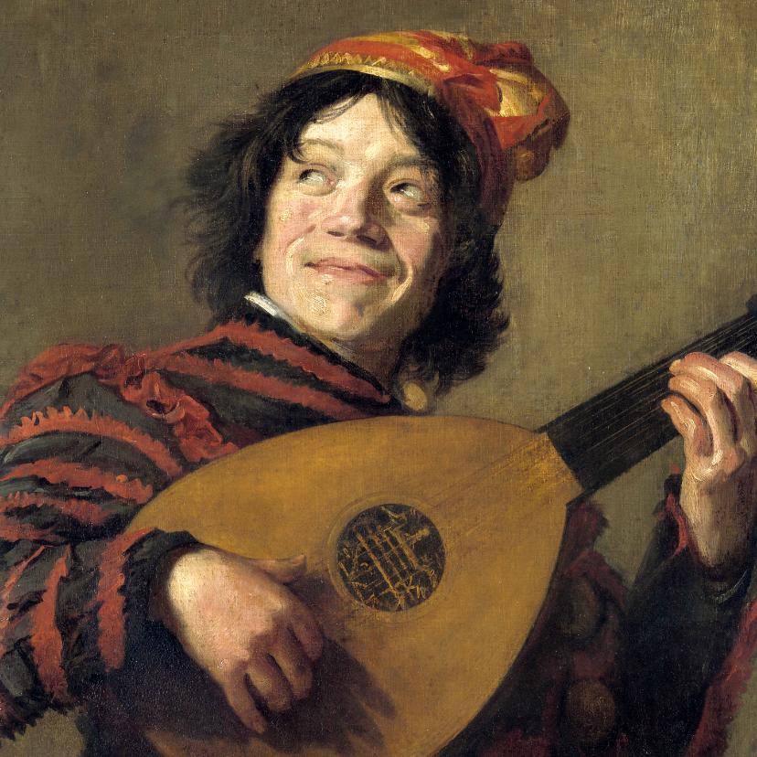 Kunstkaarten - Kunstkaart van Frans Hals. De luitspeler