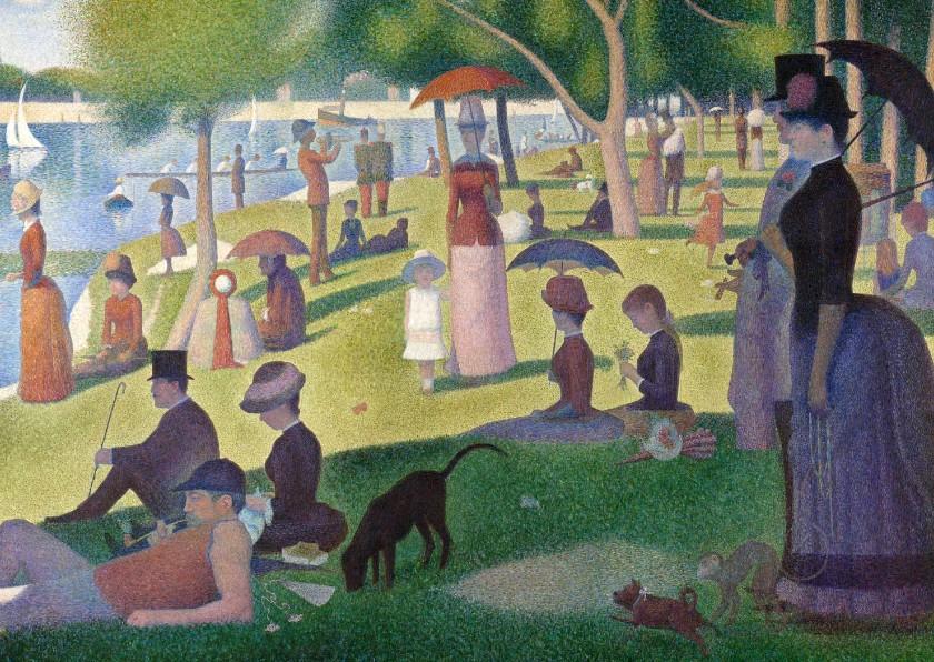 Kunstkaarten - Kunstkaart van Georges Seurat. Een zondag op La Grande Jatte
