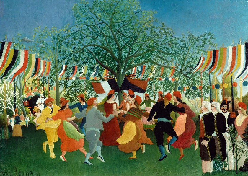 Kunstkaarten - Kunstkaart van Henri Rousseau. De feestdag
