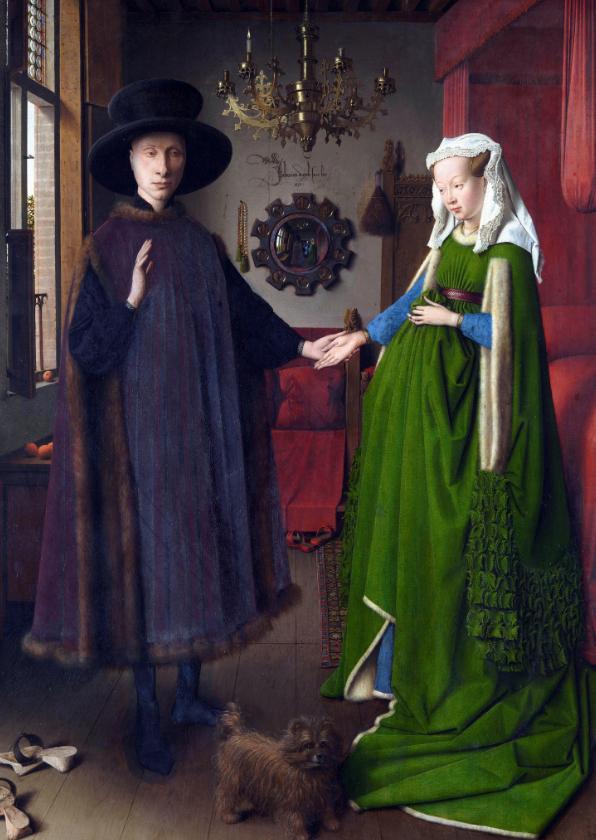 Kunstkaarten - Kunstkaart van Jan van Eyck. Het Arnolfini portret