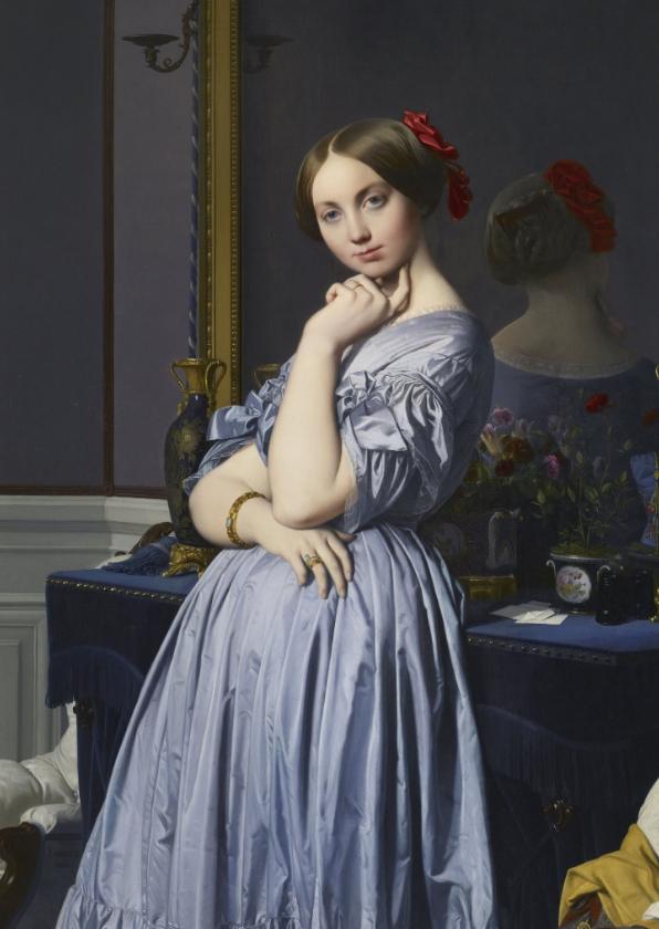 Kunstkaarten - Kunstkaart van Jean-Auguste-Dominique Ingres. Comtesse