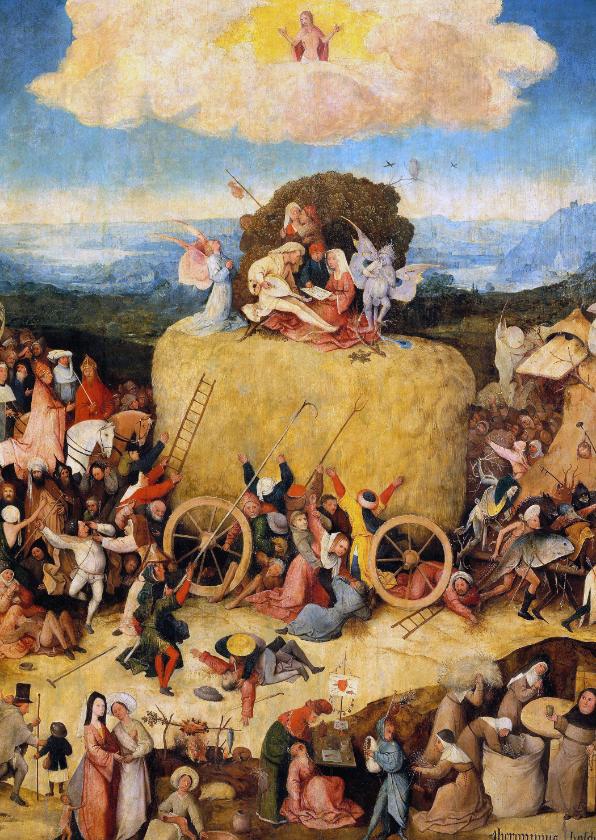 Kunstkaarten - Kunstkaart van Jeroen Bosch. De Hooiwagen